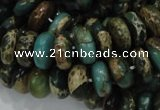 CIJ09 15.5 inches 6*12mm rondelle impression jasper beads wholesale