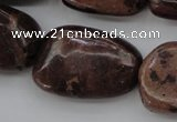 CIJ130 15.5 inches 15*18mm – 18*25mm freeform dyed impression jasper beads
