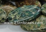 CIJ19 15.5 inches 20*40mm oval impression jasper beads wholesale