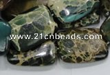 CIJ20 15.5 inches 18*25mm rectangle impression jasper beads wholesale