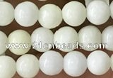 CIJ200 15.5 inches 4mm round ivory jade beads wholesale