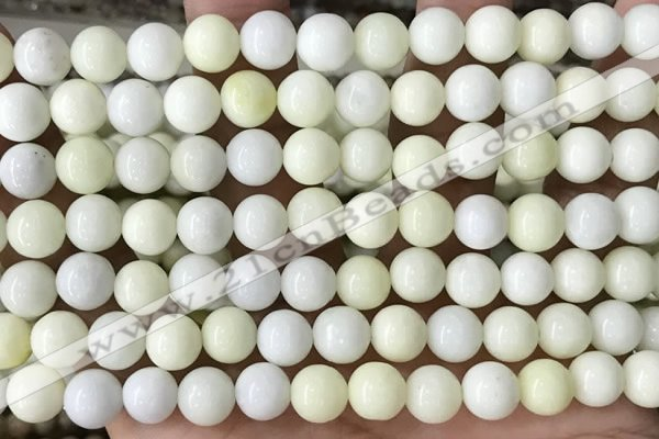 CIJ202 15.5 inches 8mm round ivory jade beads wholesale