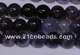 CIL10 15.5 inches 5mm round A grade natural iolite gemstone beads