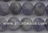 CIL110 15.5 inches 8mm round matte iolite gemstone beads