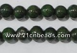 CIS01 15.5 inches 6mm round green iron stone beads wholesale