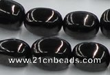 CJB14 16 inches 15*20mm nugget natural jet gemstone beads wholesale