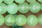 CJB309 15.5 inches 6mm round dyed green jade gemstone beads
