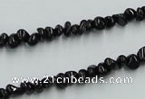 CJB31 16 inches 3*6mm chips natural jet gemstone beads wholesale
