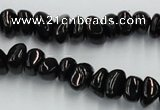 CJB32 16 inches 7*10mm chips natural jet gemstone beads wholesale
