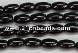 CJB51 15.5 inches 8*12mm rice natural jet gemstone beads