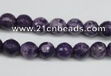 CJJ12 15 inches 8mm faceted round dyed lucky jade beads