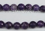 CJJ14 15.5 inches 10mm faceted round dyed lucky jade beads