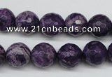 CJJ15 15.5 inches 12mm faceted round dyed lucky jade beads