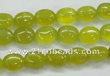 CKA31 15.5 inches 8*10mm oval Korean jade gemstone beads