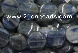 CKC02 16 inches 25mm flat round natural kyanite beads wholesale
