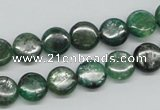 CKC107 16 inches 10mm flat round natural green kyanite beads wholesale