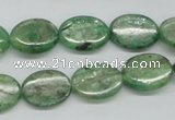 CKC113 16 inches 12*16mm oval natural green kyanite beads wholesale