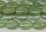 CKC267 15.5 inches 10*14mm oval natural green kyanite beads