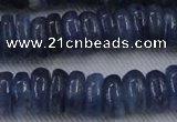 CKC504 15.5 inches 4*12mm rondelle natural Brazilian kyanite beads