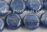 CKC515 15.5 inches 16mm flat round natural Brazilian kyanite beads