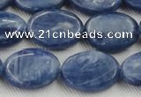 CKC534 15.5 inches 10*14mm oval natural Brazilian kyanite beads