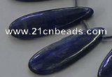 CKC541 Top drilled 10*25mm flat teardrop natural kyanite beads