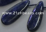 CKC543 Top drilled 10*30mm flat teardrop natural kyanite beads