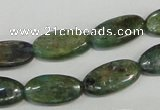 CKC58 15.5 inches 8*14mm oval natural green kyanite beads wholesale