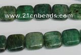 CKC62 15.5 inches 12*12mm square natural green kyanite beads