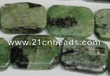 CKC69 15.5 inches 18*25mm rectangle natural green kyanite beads