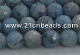 CKC703 15.5 inches 10mm faceted round imitation blue kyanite beads