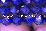 CKC733 15.5 inches 7mm faceted round kyanite gemstone beads