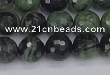CKJ312 15.5 inches 8mm faceted round kambaba jasper beads