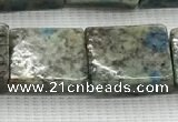 CKJ448 15.5 inches 11*12mm - 13*17mm rectangle natural k2 jasper beads