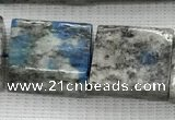 CKJ451 15.5 inches 12*14mm - 14*16mm rectangle natural k2 jasper beads