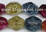 CKQ118 15.5 inches 15*20mm nuggets dyed crackle quartz beads