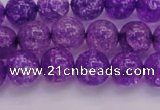 CKQ310 15.5 inches 10mm round dyed crackle quartz beads wholesale