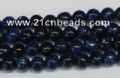 CKU100 15.5 inches 4mm round dyed kunzite beads wholesale
