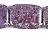 CKU12 15 inches 22*30mm rectangle purple kunzite beads wholesale