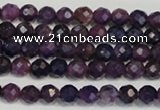 CKU20 15.5 inches 4mm faceted round purple kunzite beads wholesale
