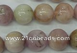 CKU207 15.5 inches 14mm round pink kunzite beads wholesale