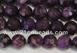 CKU23 15.5 inches 10mm faceted round purple kunzite beads wholesale