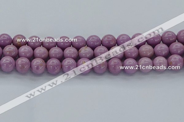 CKU304 15.5 inches 10mm round kunzite gemstone beads