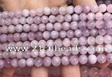 CKU320 15.5 inches 6mm round natural pink kunzite beads