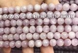 CKU321 15.5 inches 8mm round natural pink kunzite beads