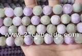 CKU327 15.5 inches 12mm - 12.5mm faceted round natural kunzite beads