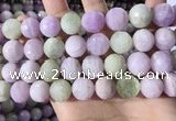 CKU328 15.5 inches 14mm - 15mm faceted round natural kunzite beads