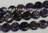 CKU35 15.5 inches 10mm flat round purple kunzite beads wholesale