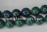 CLA481 15.5 inches 10mm round synthetic lapis lazuli beads