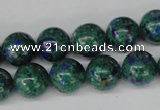 CLA482 15.5 inches 12mm round synthetic lapis lazuli beads